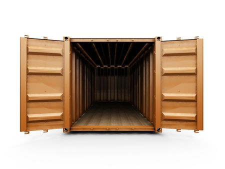 3D render of a freight container