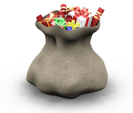 birthday religious: 3D render of a sack of gifts