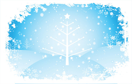 winter scene: Winter scene - vector Illustration