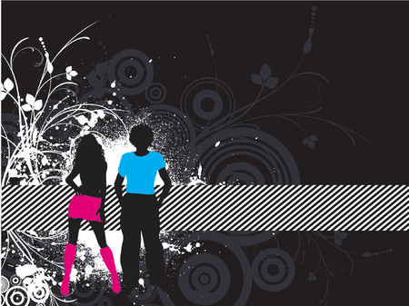 Grunge youth - vector Stock Vector - 594529