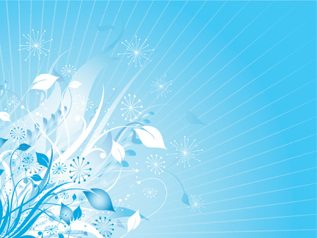 Decorative winter floral background - vector Stock Vector - 604531