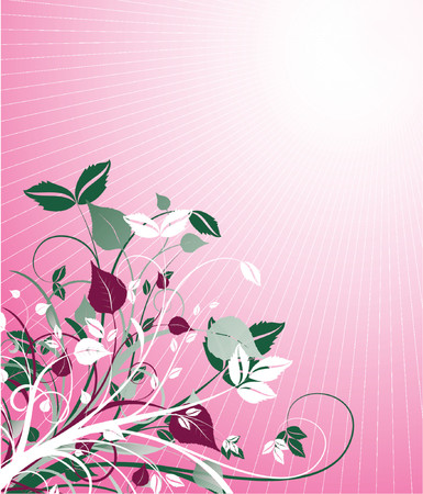 Floral abstract - vector Stock Vector - 727628