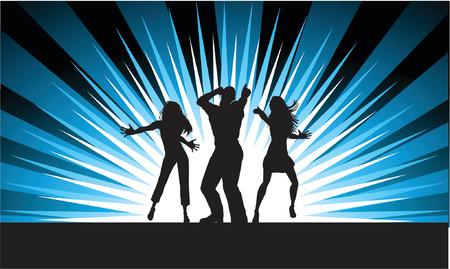 male dancer: Funky dancers - vector