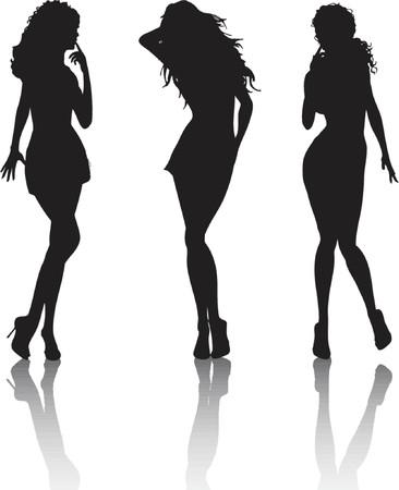 stilettos: Sexy females - vector