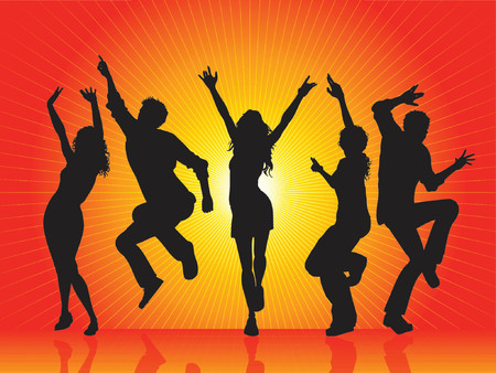 dance pose: Hot party - vector