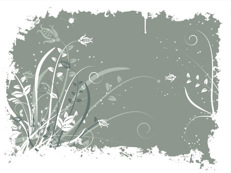 Floral grunge - vector Stock Vector - 825899