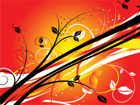 Floral abstract - vector Stock Vector - 826105