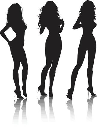 Sexy female poses - vector Stock Vector - 826107