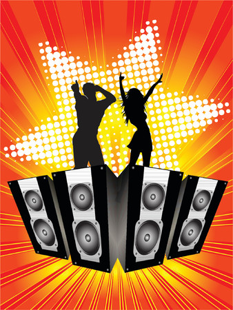 Funky party background - vector Vector