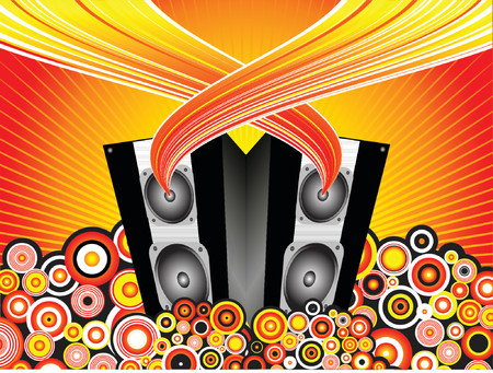 funky music: Funky music background - vector