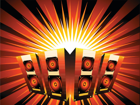 Music burst - vector Vector
