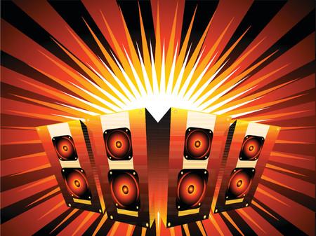 Music burst - vector Vector