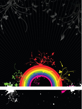 Rainbow grunge - vector Stock Vector - 866808