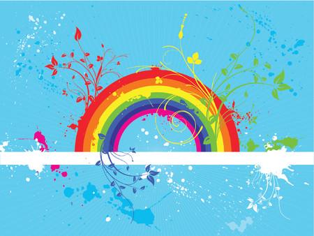 Rainbow grunge - vector Stock Vector - 866813