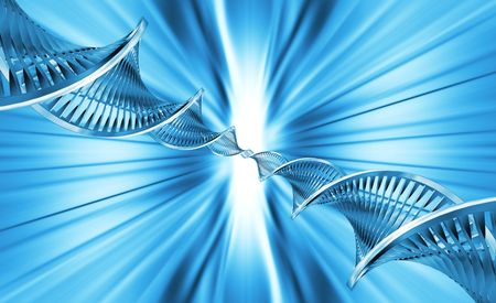 genetically: Abstract blur background with DNA strands Stock Photo