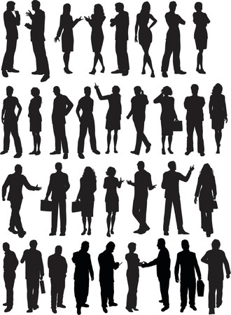Les gens d'affaires silhouettes - vector
