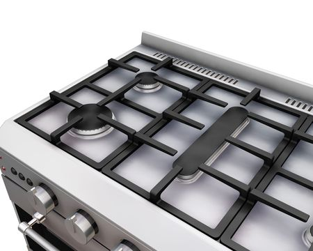 hob: 3D render of a close up of an oven