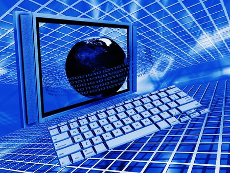 Conceptual image depicting global technology photo
