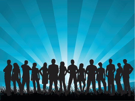 Group of people - vector Stock Vector - 1280111