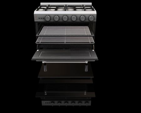 hob: 3D render of a modern oven Stock Photo