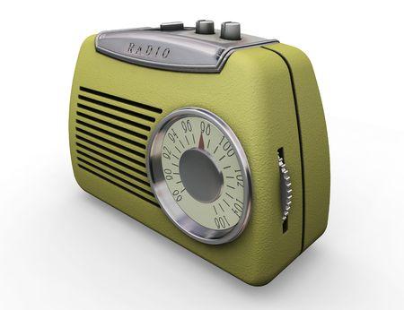 old radio: 3D render of a retro styled radio