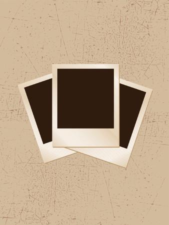 polaroids: Grunge frame - vector Illustration