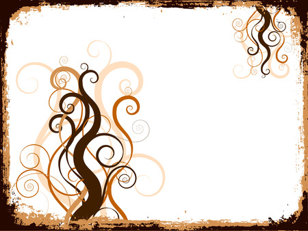 Grunge swirls and curls - vector Stock Vector - 1431736