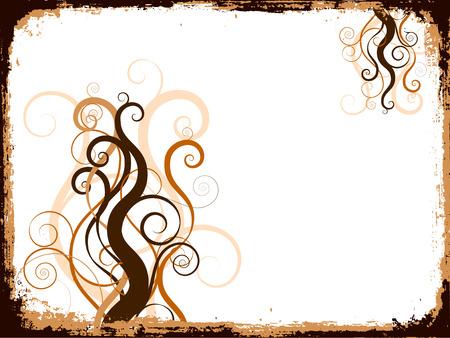 Grunge swirls and curls - vector Stock Vector - 1431736