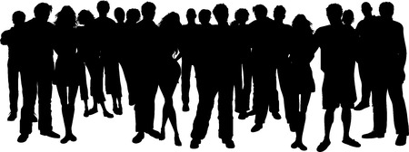 youngsters: Huge group of people - vector