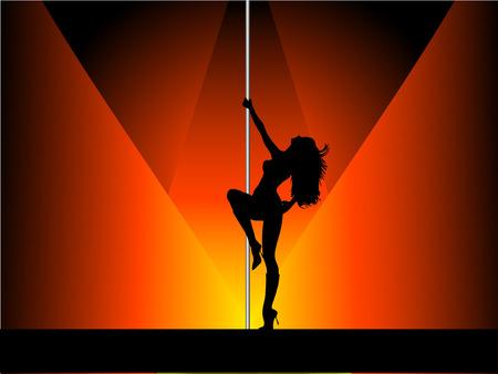 t�nzerinnen: Sexy Pole Dancer - Vektor