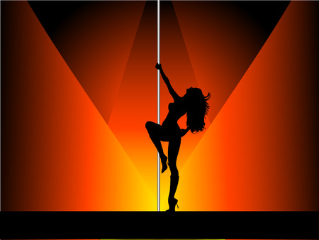 Sexy pole dancer - vector Stok Fotoğraf - 1431729