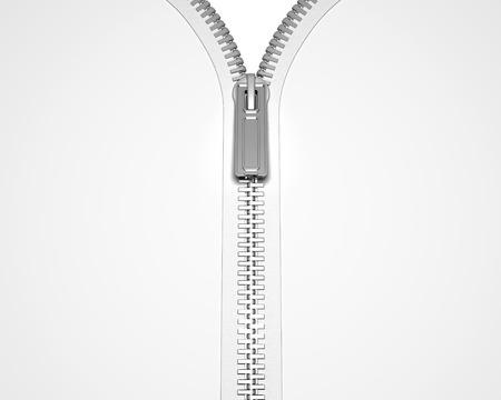 linking: 3D render of an opening zip