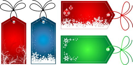freeze: Christmas gift tags - vector Illustration