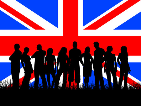 british man: British youth - vector Illustration