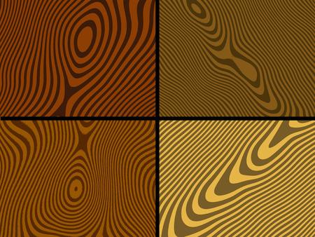wood grain: Wood textures - vector