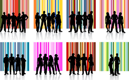 Groups of people - vector Stock Vector - 2168475