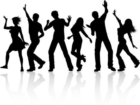 People dancing - vector