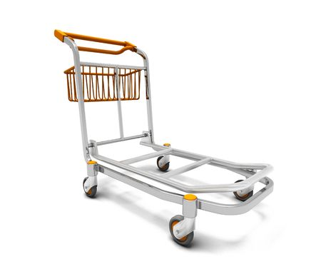 trolley case: 3D render of a luggage trolley Stock Photo