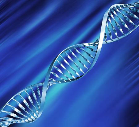 3D render of DNA strands Stock Photo - 2704716