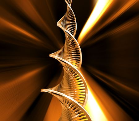 raytrace: 3D render of DNA strands Stock Photo