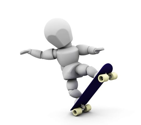 3D render of someone skateboarding Stock Photo - 2736439