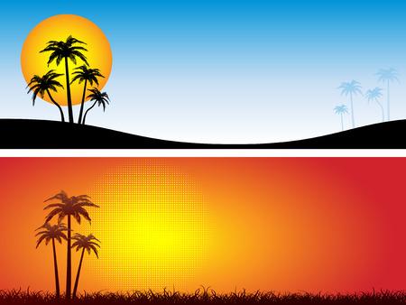 Summer scenes - vector Stock Vector - 2736477