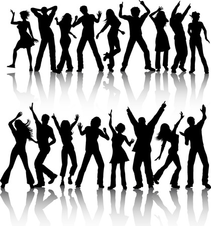 male dancer: People dancing - vector