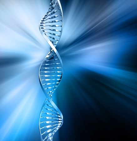 stem cell: 3D render of DNA strands on abstract background