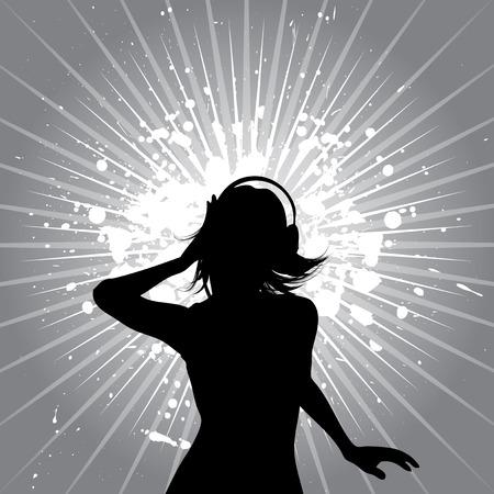 Grunge music female - vector Stock Vector - 2853739