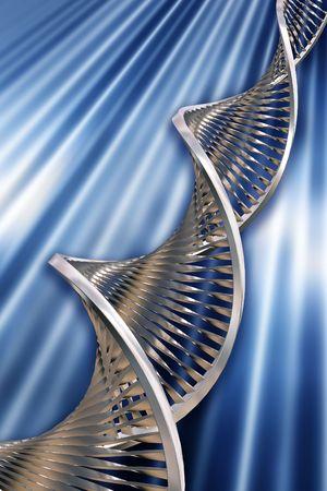 microscopisch: 3D render van DNA-strengen