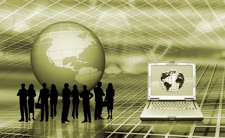 Conceptual image depicting world trading photo