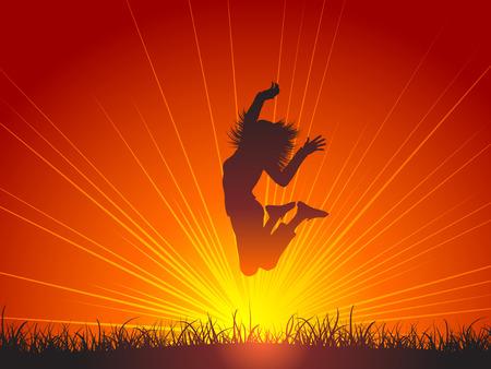joyous: Saltar de alegr�a
