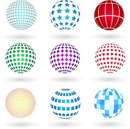 coporate: Spheres with various designs
