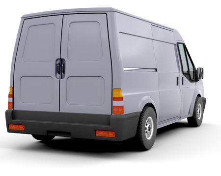 3D render of a delivery van